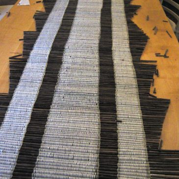 Cotton warp and willow rod Runner