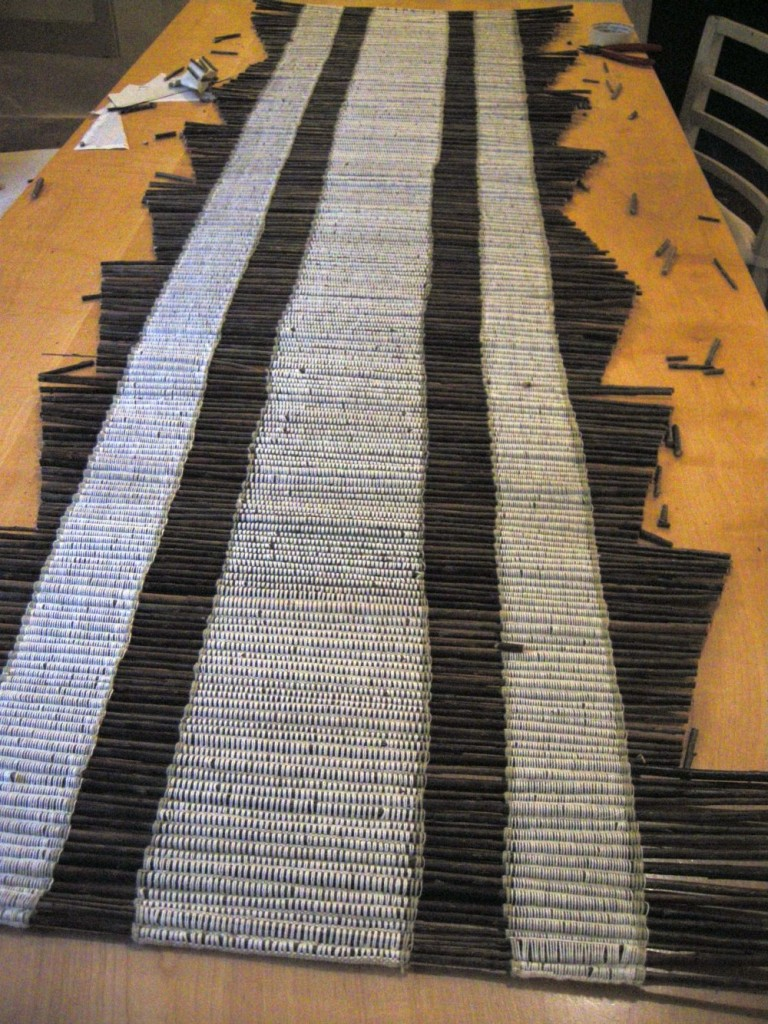 Runner 7' Cotton warp and willow rods