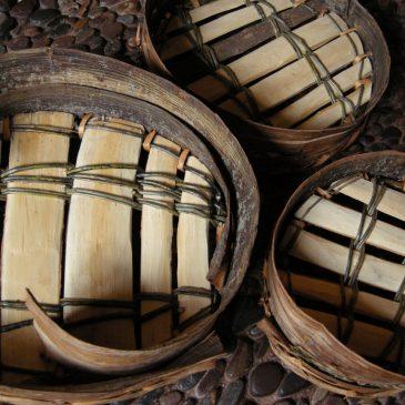 Sieves in split wood and bark