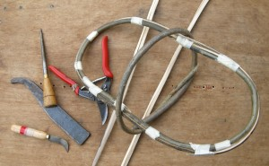 Tools and start of egg basket