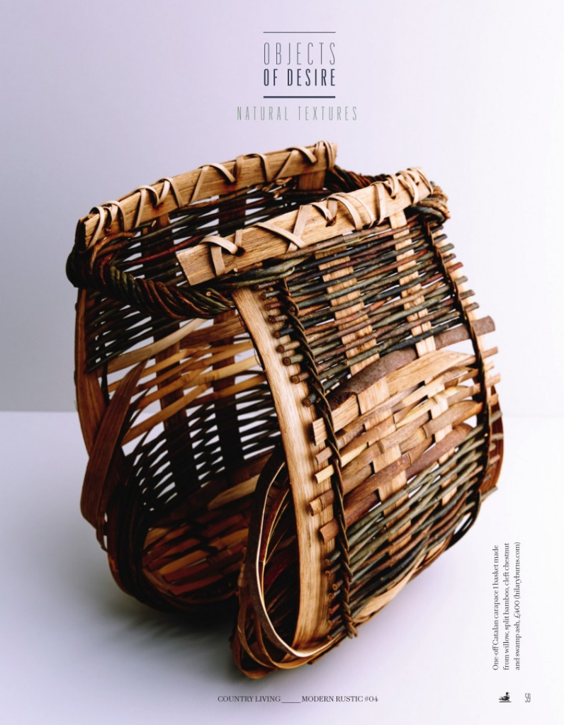 Hilary Burns - basket made with willow, bamboo, chestnut and swamp ash